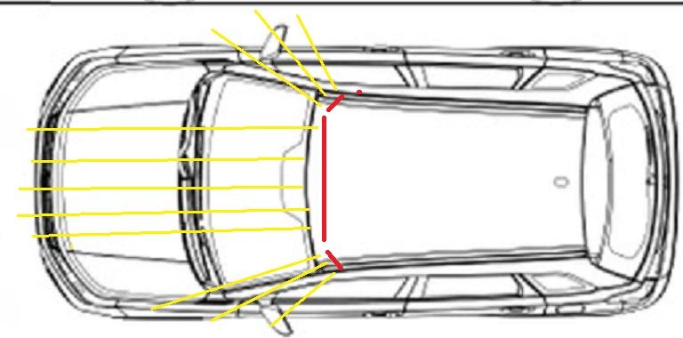 Roof mounted light bars Tak211