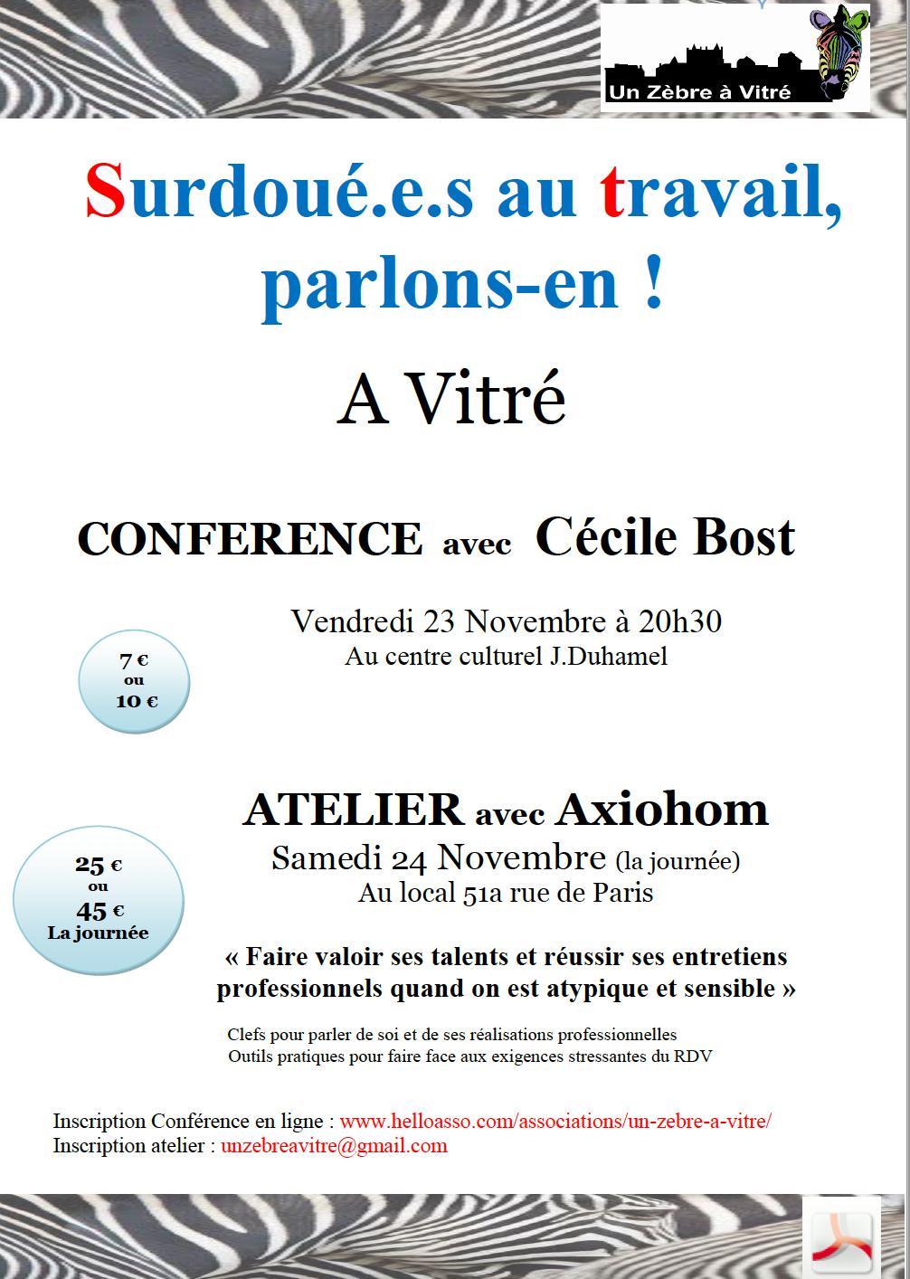 Rennes - Cecile Bost à Rennes le 23 novembre à Vitré Affich10