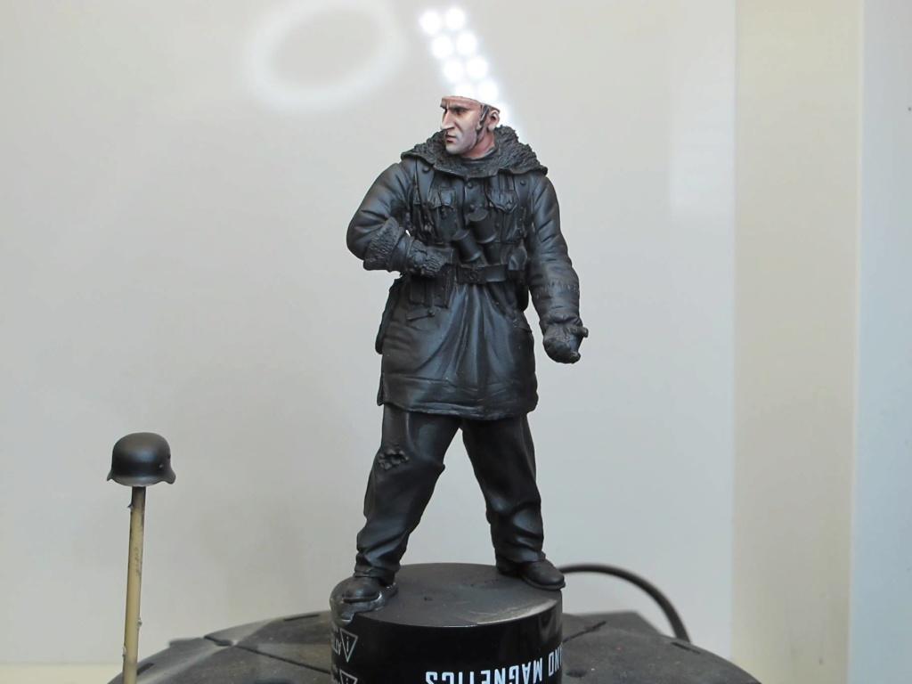 WWII - Figurine 1/16 - Mitrailleur Allemand 2e guerre mondiale - Terminé 0110