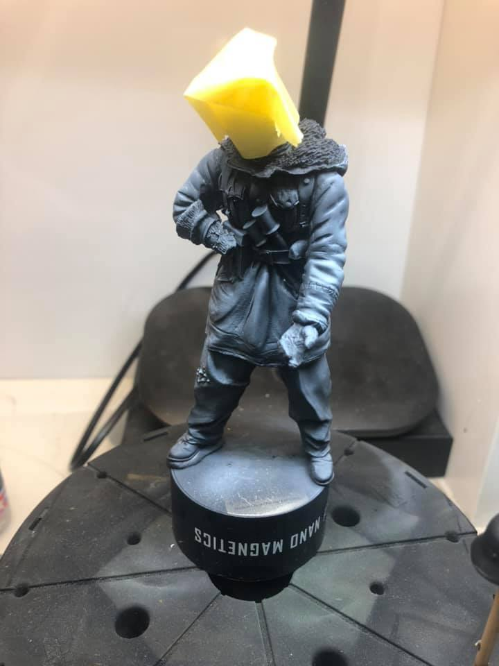 WWII - Figurine 1/16 - Mitrailleur Allemand 2e guerre mondiale - Terminé 0211