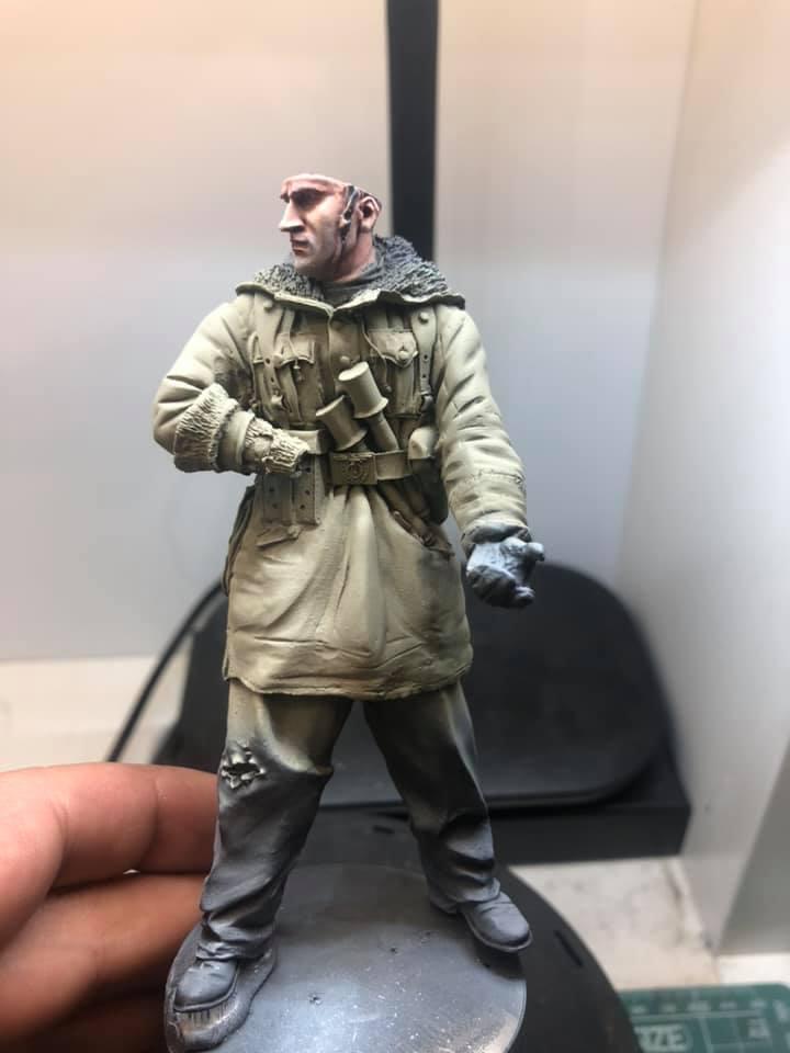 WWII - Figurine 1/16 - Mitrailleur Allemand 2e guerre mondiale - Terminé 0310