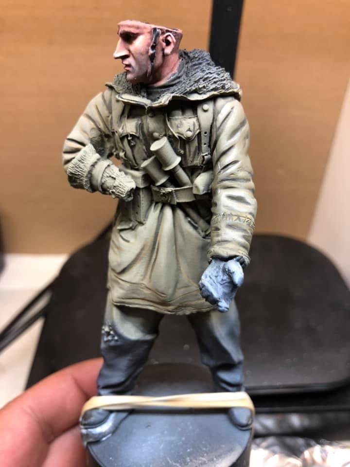 WWII - Figurine 1/16 - Mitrailleur Allemand 2e guerre mondiale - Terminé 0410