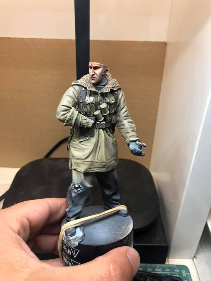 WWII - Figurine 1/16 - Mitrailleur Allemand 2e guerre mondiale - Terminé 0510