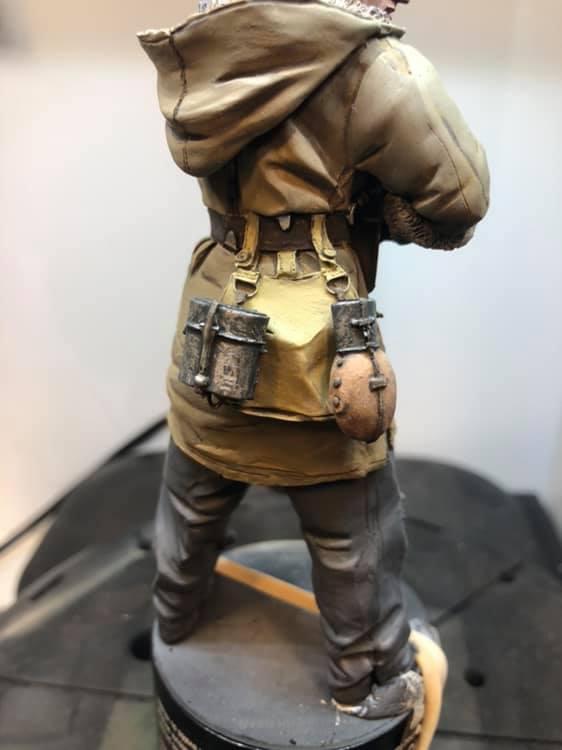 WWII - Figurine 1/16 - Mitrailleur Allemand 2e guerre mondiale - Terminé 110