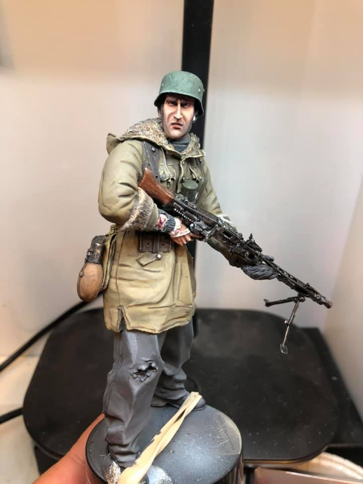 WWII - Figurine 1/16 - Mitrailleur Allemand 2e guerre mondiale - Terminé 111
