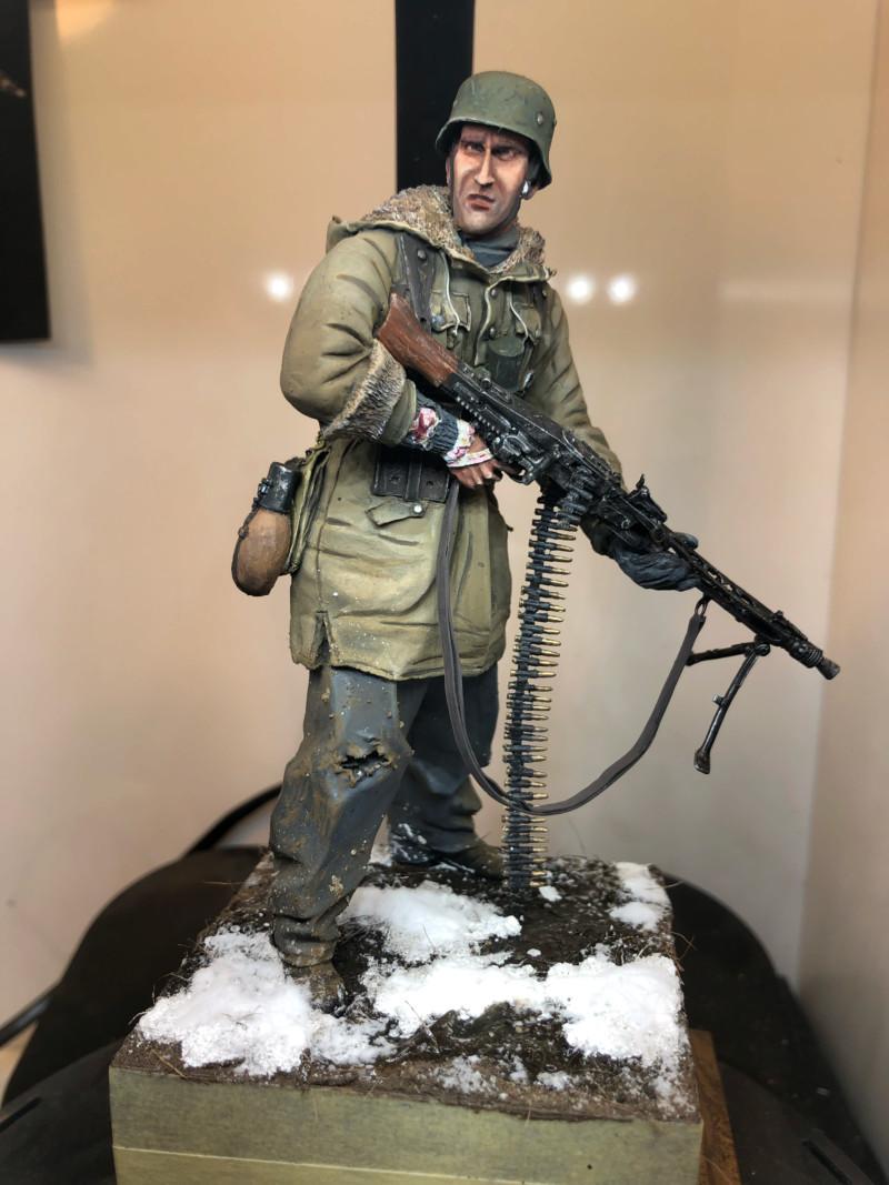 WWII - Figurine 1/16 - Mitrailleur Allemand 2e guerre mondiale - Terminé 15608110