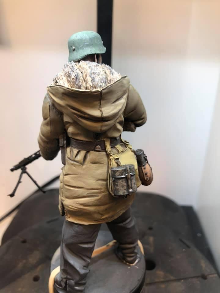 WWII - Figurine 1/16 - Mitrailleur Allemand 2e guerre mondiale - Terminé 210