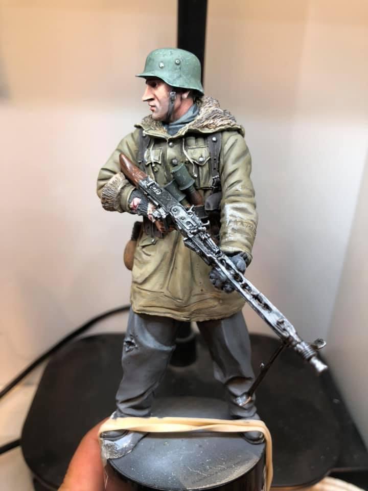 WWII - Figurine 1/16 - Mitrailleur Allemand 2e guerre mondiale - Terminé 211
