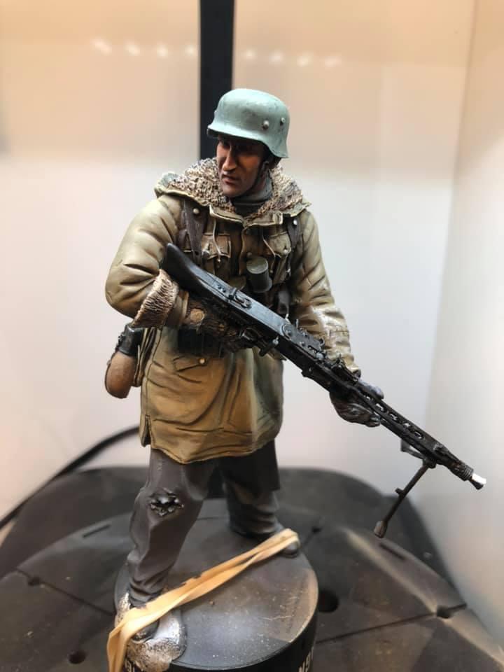 WWII - Figurine 1/16 - Mitrailleur Allemand 2e guerre mondiale - Terminé 310