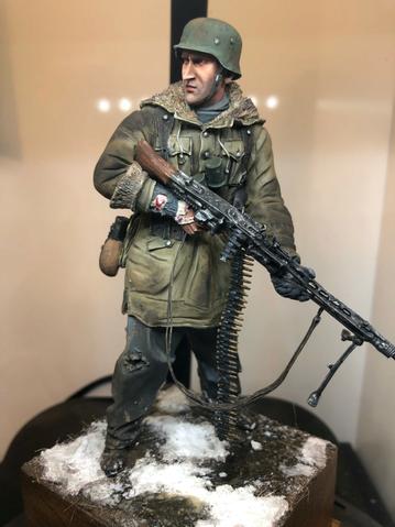 WWII - Figurine 1/16 - Mitrailleur Allemand 2e guerre mondiale - Terminé 15613210