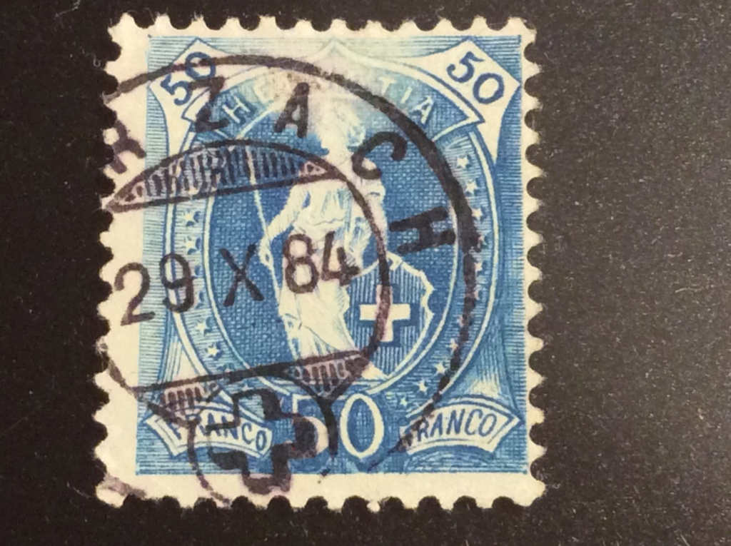 SBK 70A, Stehende Helvetia 50 Rp 0769a910