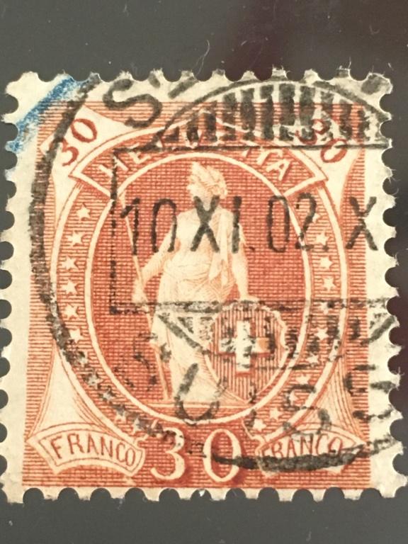 SBK 68E, Stehende Helvetia 30 Rp C951fe10