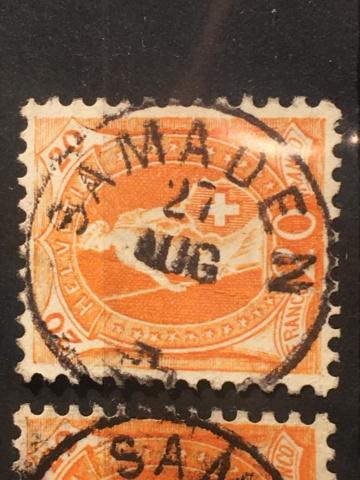 Einkreis-Stempel auf Stehender Helvetia  Image282