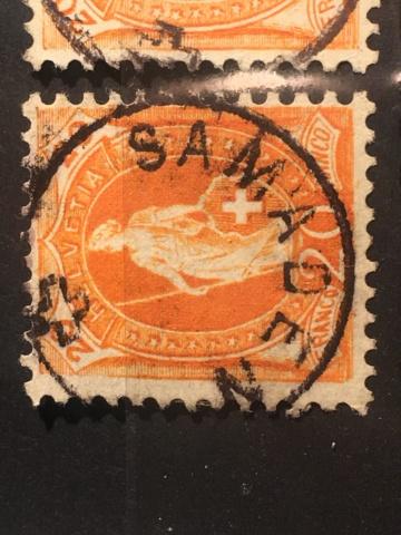 Einkreis-Stempel auf Stehender Helvetia  Image283