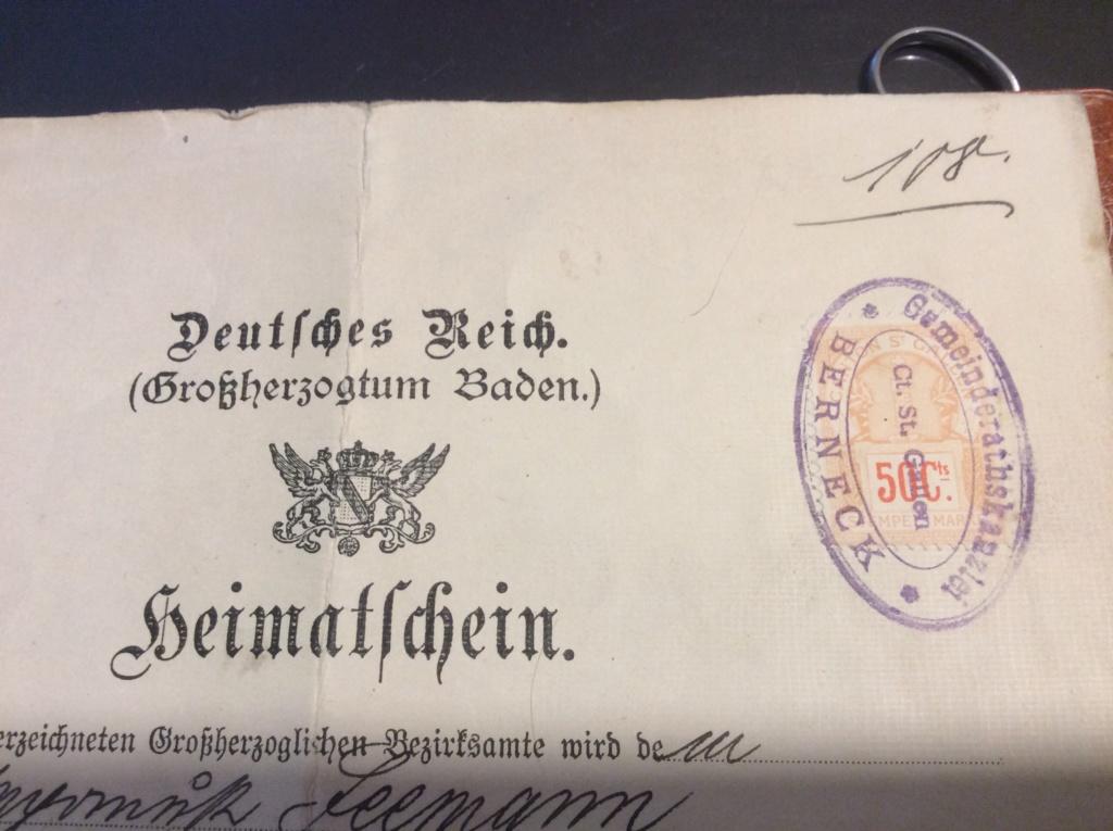 Heimatschein , Geschichtliches Image39
