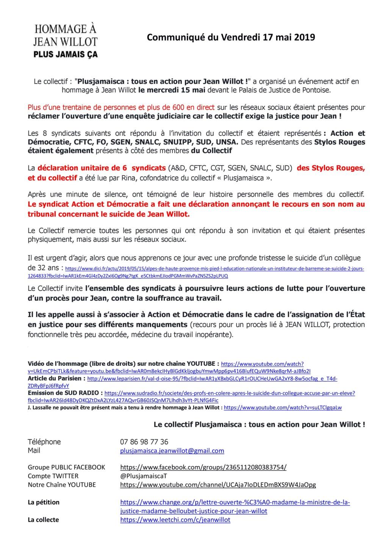 Val-d'Oise : soupçonné de violence, l'enseignant met fin à ses jours. Pétition p. 5 - Page 9 Commun10