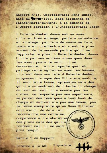 Rapports de l'Oberleutnant Hans Immer, opérations de 1944 sur le Front de l'Ouest (17 RAPPORTS) 110