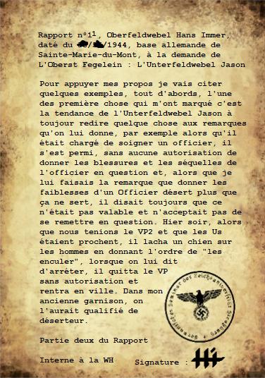 Rapports du Leutnant Hans Immer, opérations de 1944 sur le Front de l'Ouest (15 RAPPORTS) 210