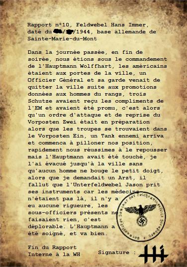 Rapports du Leutnant Hans Immer, opérations de 1944 sur le Front de l'Ouest (15 RAPPORTS) Caca10