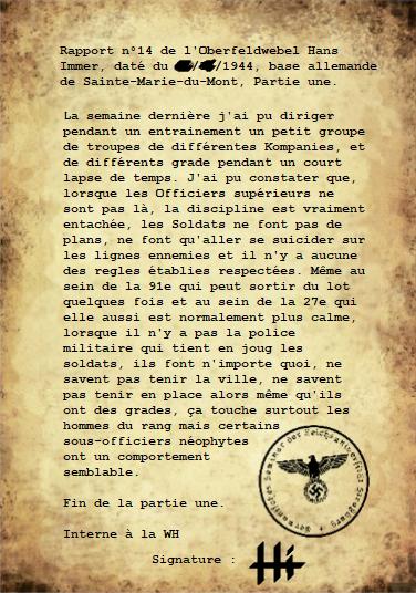Rapports du Leutnant Hans Immer, opérations de 1944 sur le Front de l'Ouest (15 RAPPORTS) Partie12
