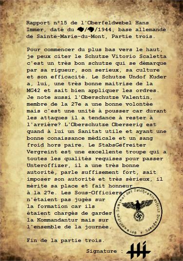 Rapports du Leutnant Hans Immer, opérations de 1944 sur le Front de l'Ouest (15 RAPPORTS) Partie17