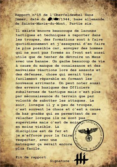 Rapports de l'Oberleutnant Hans Immer, opérations de 1944 sur le Front de l'Ouest (17 RAPPORTS) Partie20