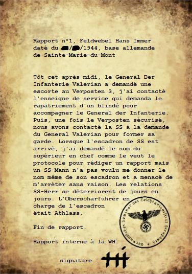 Rapport n°1, Hans Immer, daté du ██/██/1944 Rappor10
