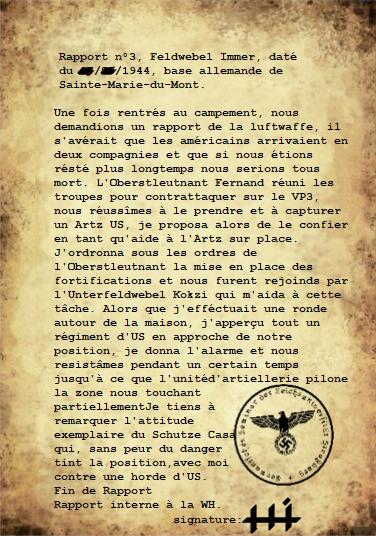 Rapports du Leutnant Hans Immer, opérations de 1944 sur le Front de l'Ouest (15 RAPPORTS) Rappor27