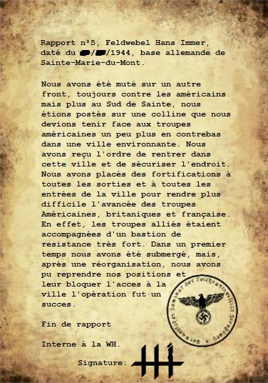 Rapports du Leutnant Hans Immer, opérations de 1944 sur le Front de l'Ouest (15 RAPPORTS) Rappor30