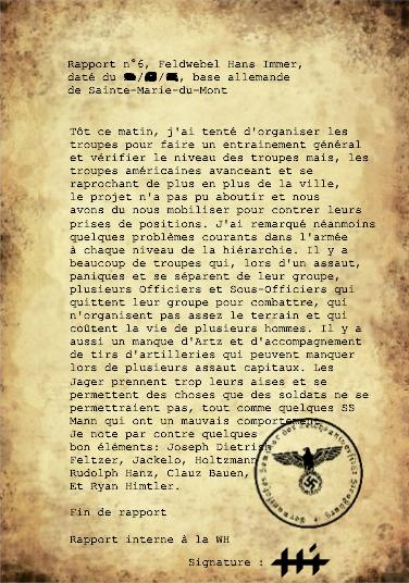 Rapports du Leutnant Hans Immer, opérations de 1944 sur le Front de l'Ouest (15 RAPPORTS) Rappor31