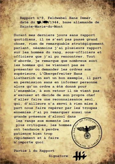 Rapports de l'Oberleutnant Hans Immer, opérations de 1944 sur le Front de l'Ouest (17 RAPPORTS) Rappor35