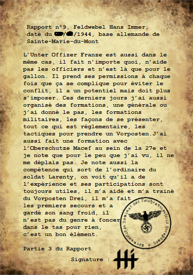 Rapports du Leutnant Hans Immer, opérations de 1944 sur le Front de l'Ouest (15 RAPPORTS) Rappor37