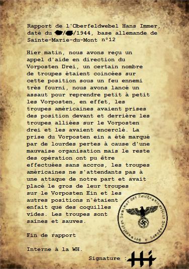 Rapports de l'Oberleutnant Hans Immer, opérations de 1944 sur le Front de l'Ouest (17 RAPPORTS) Rappor39