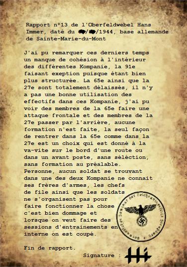 Rapports du Leutnant Hans Immer, opérations de 1944 sur le Front de l'Ouest (15 RAPPORTS) Rappor40