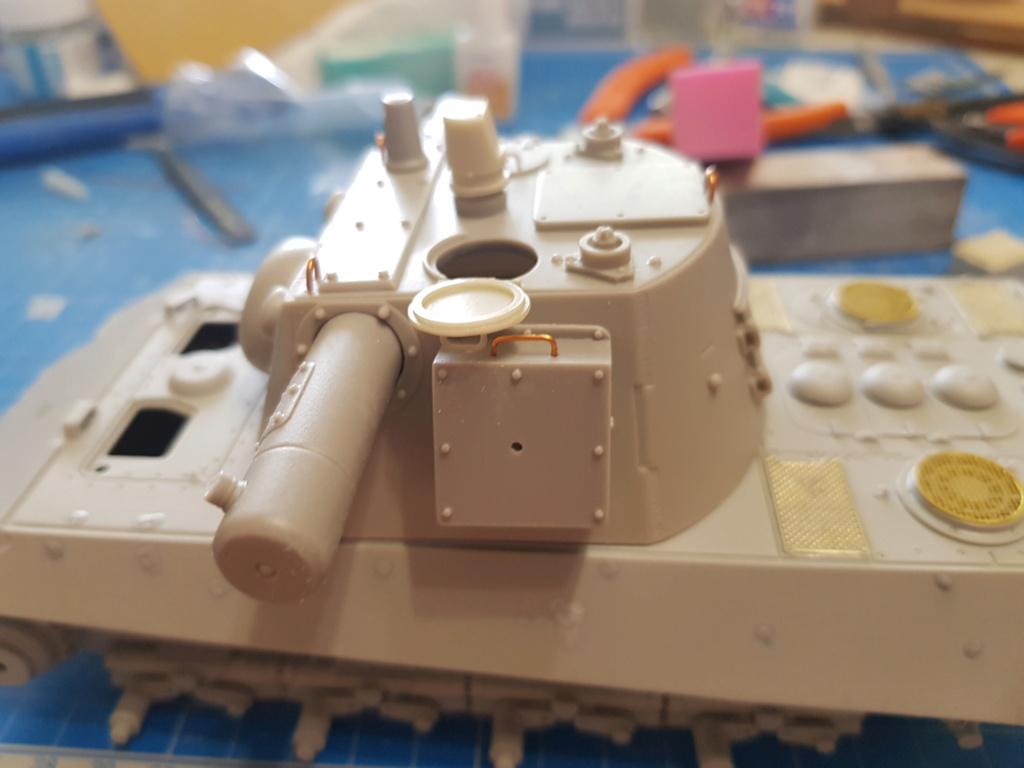 E 75 ET RADAR UND KDO40 TURM HEIMDALL - Trumpeter et Paper Panzer 1:35  20190610