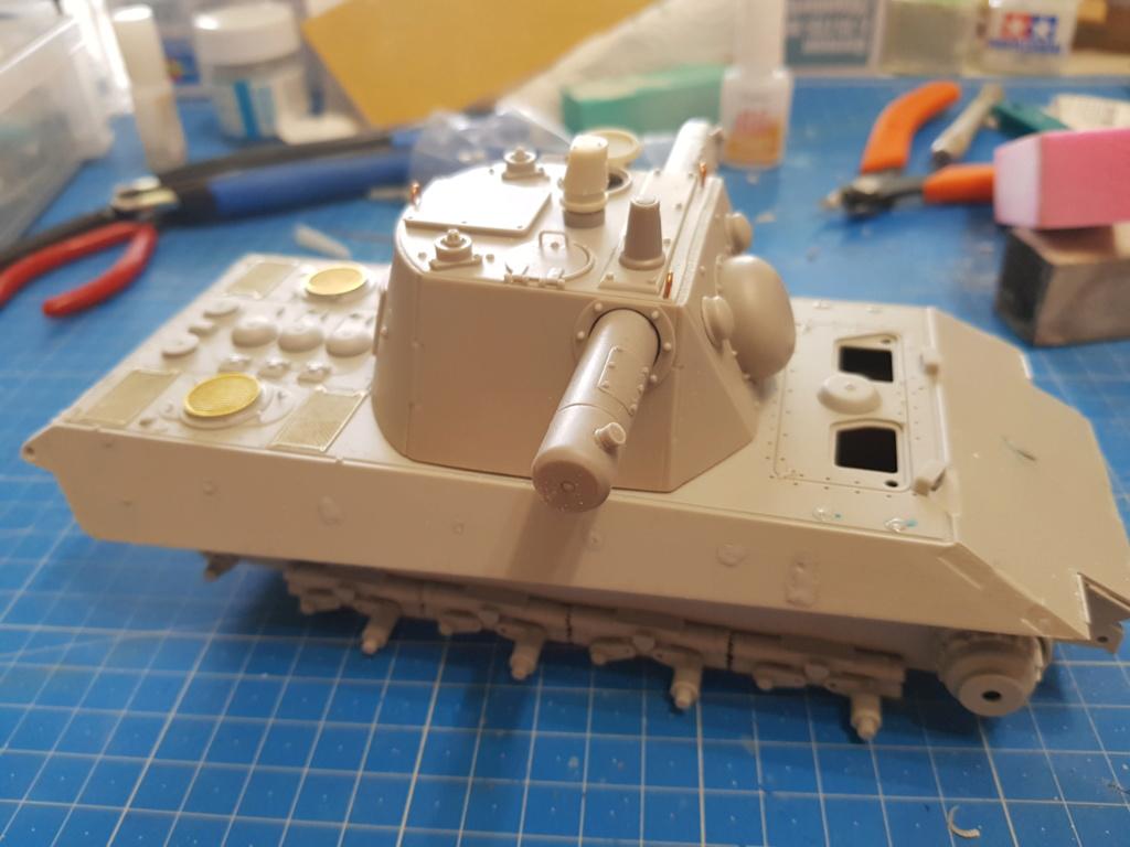 E 75 ET RADAR UND KDO40 TURM HEIMDALL - Trumpeter et Paper Panzer 1:35  20190612
