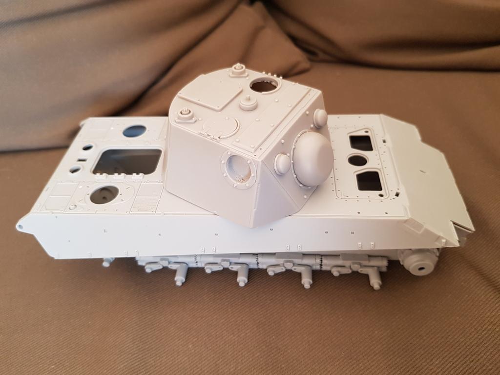 E 75 ET RADAR UND KDO40 TURM HEIMDALL - Trumpeter et Paper Panzer 1:35  E7510