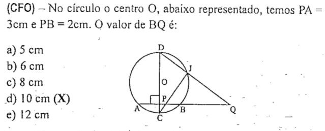 Questão de Geometria Plana do (CFO) Geomet11