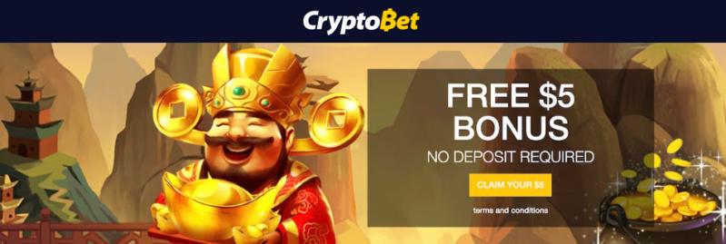 Cryptobet - 5USD no deposit bonus Crypto10