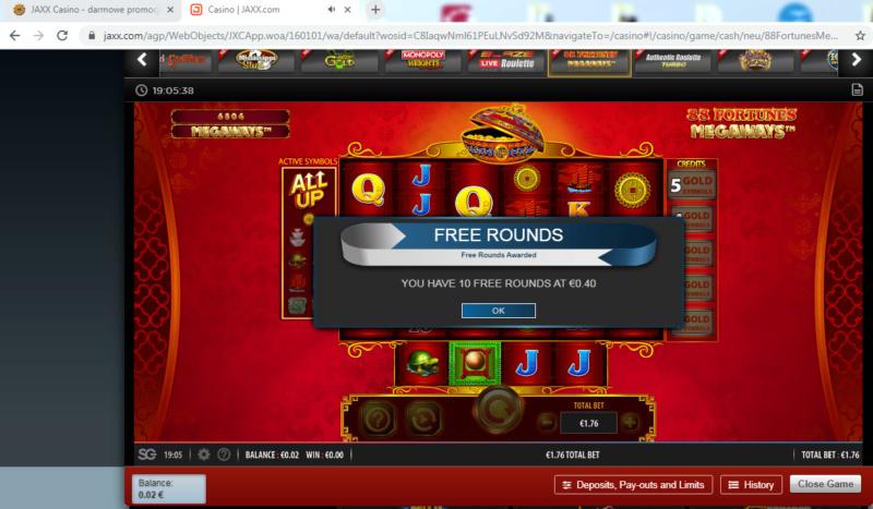 JAXX Casino - darmowe promocje Jaxx10