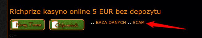 Richprize kasyno online 5 EUR bez depozytu Scam10