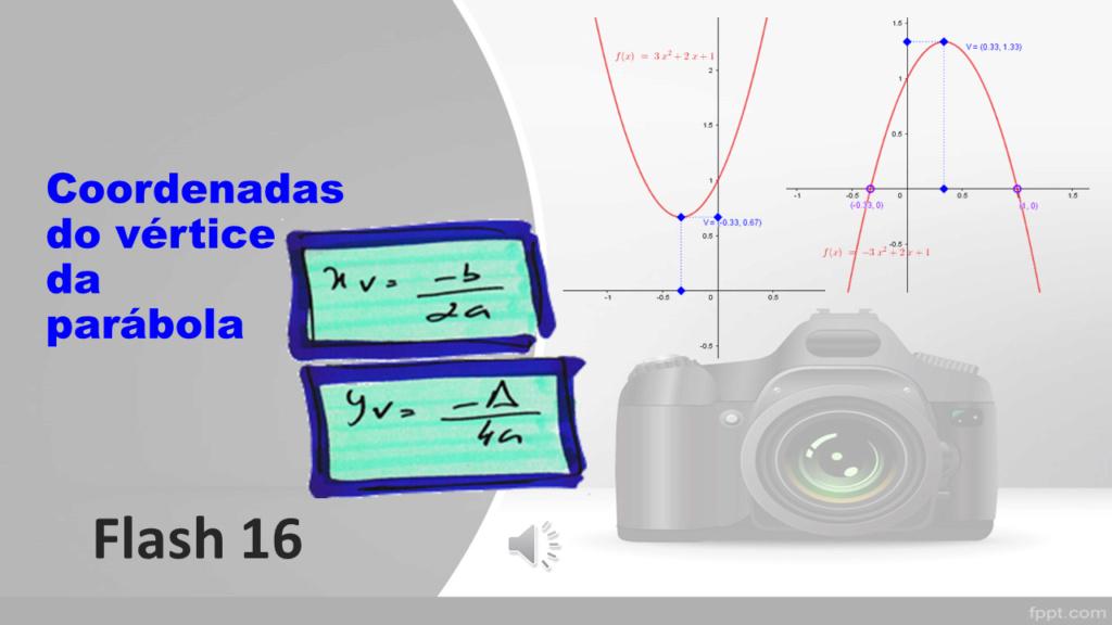 Cálculo das coordenadas do vértice de uma parábola Slide141