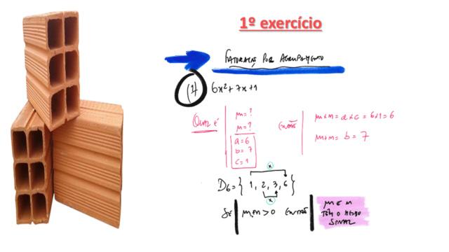 Fatorar exp quadrática com coeficiente de x² dif 1 Slide332