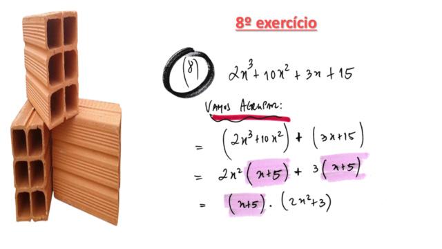 Fatorar exp quadrática com coeficiente de x² dif 1 Slide334