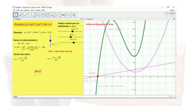 Fatorar exp quadrática com coeficiente de x² dif 1 Slide335