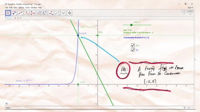 Imagem de f(g(x)) para um valor específico de g(x) Slide522