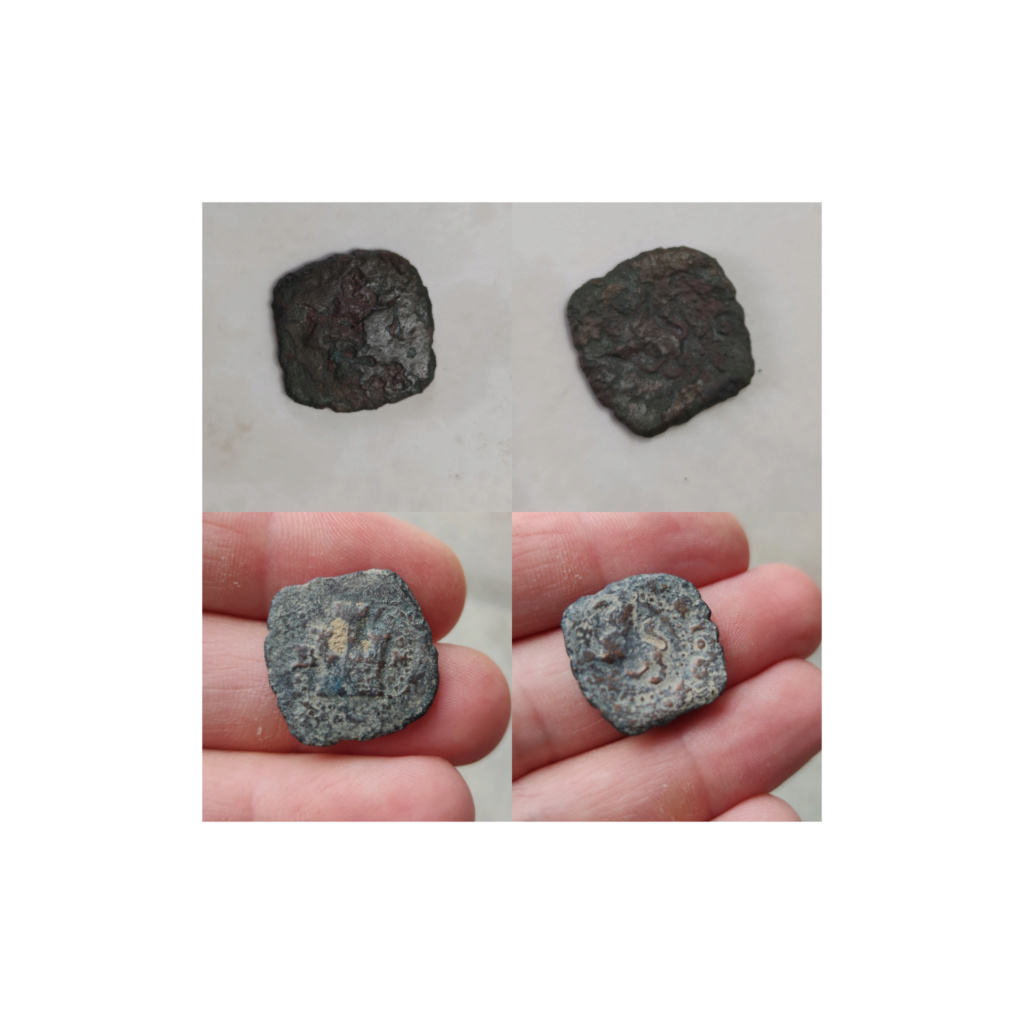 2 maravedís de Felipe II de Burgos, 1584/1585. Inshot10