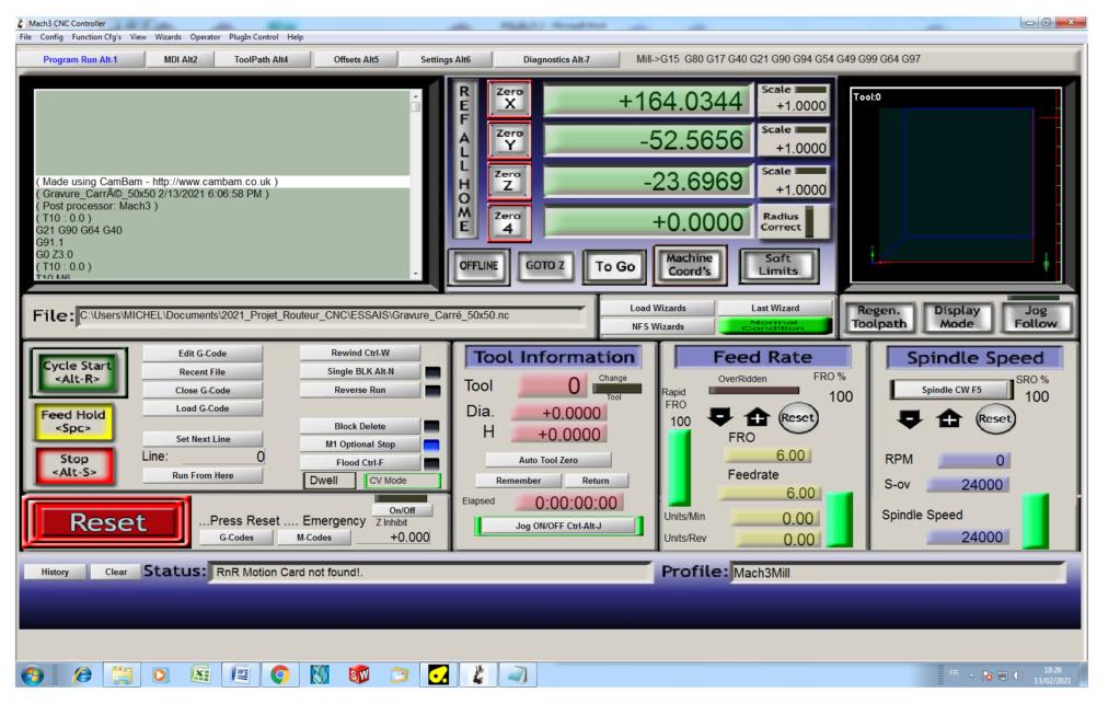 CNC 6040 4 axes neuve et Mach3 fourni avec. 2021_012