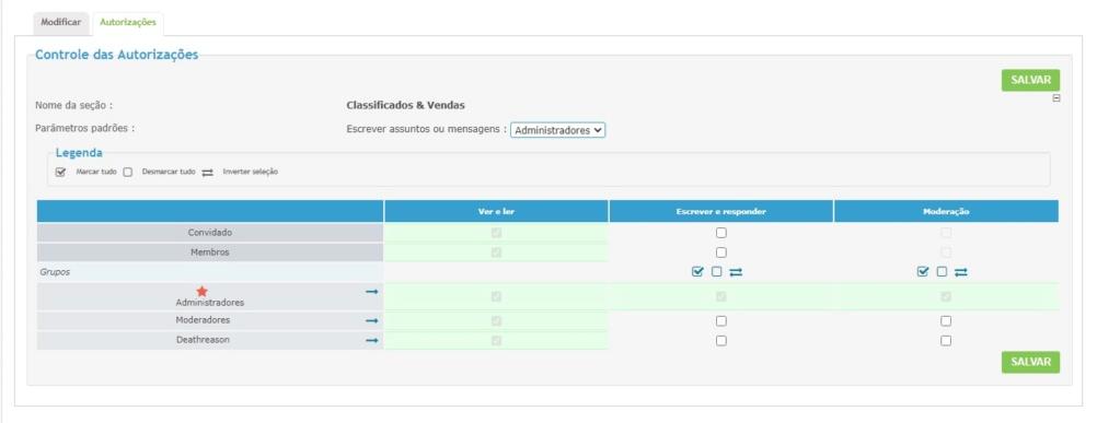 """Retirar o fórum """"Classificados"""" e ter acesso ao mesmo mais tarde Classi11"""