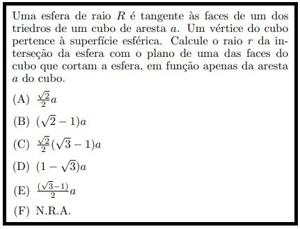 (IME - 1971) Geometria Espacial Esfura12